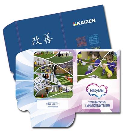 изготовление фирменных картонных папок с логотипом